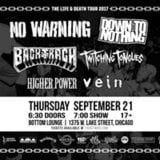 Life and Death Tour w/ No Warning Down to Nothing Backtrack+more
